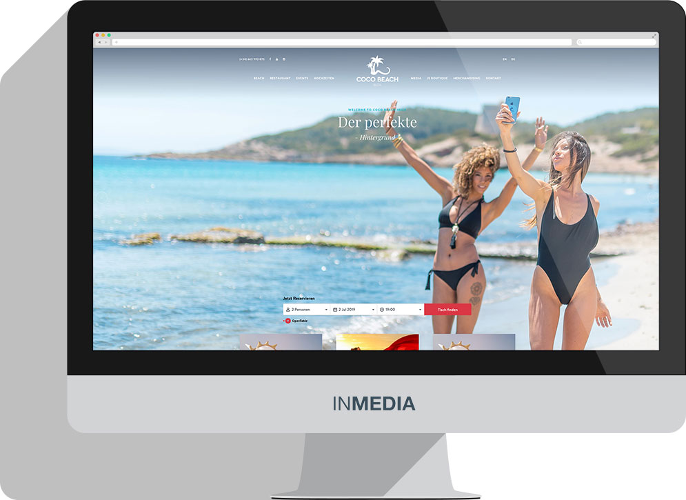Coco Beach Ibiza Homepage