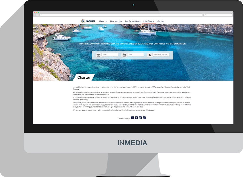 INYachts Ibiza Website