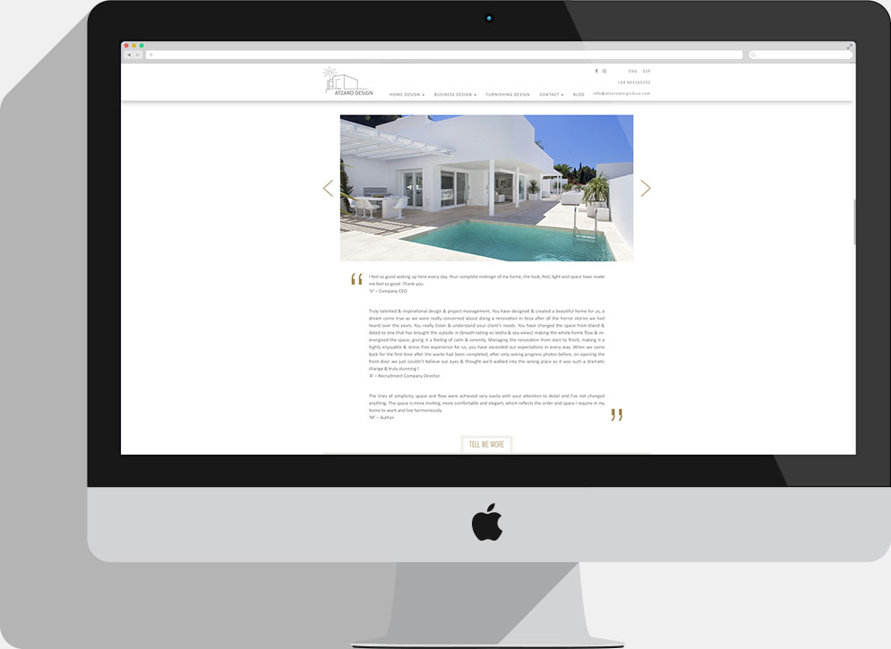 Atzaro Design Ibiza Homepage
